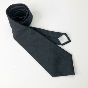 Vintage Thai Silk Black Tie 100% matka silk